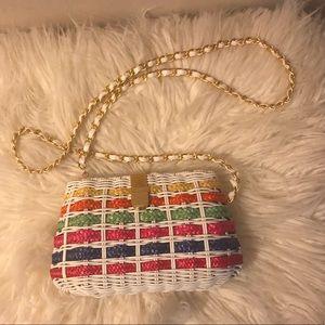 Handbags - ✨colorful Wicker Purse✨
